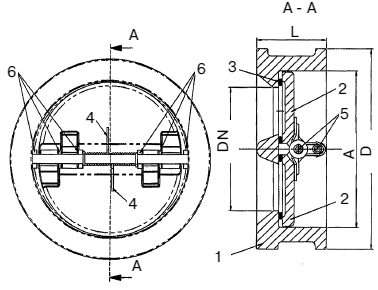 Технические параметры обратных клапанов Гранлок CV16