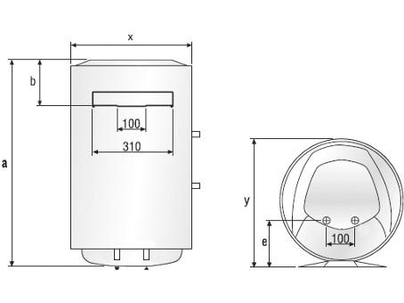 Габаритные размеры электрических водонагревателей Ariston Superlux NTS