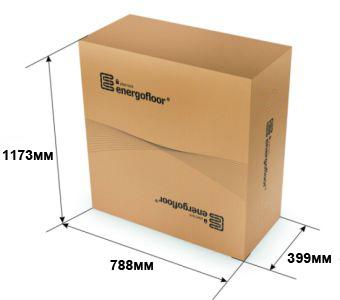 Плиты для тёплого пола Energofloor Pipelock упаковываются в картонные коробки