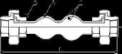 Технические параметры гибкого антивибрационного компенсатора FC6