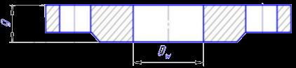 СантехТула - чертёж стальных фланцев по ГОСТу 12820-80