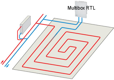 Схема подключения Heimeier Multibox C/RTL