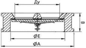 Технические параметры чугунных обратных межфланцевых клапанов