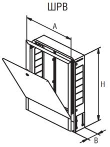 Габаритные размеры коллекторных шкафов ШРВ