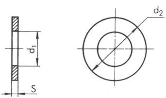 Чертёж шайбы плоской ГОСТ 11371-78