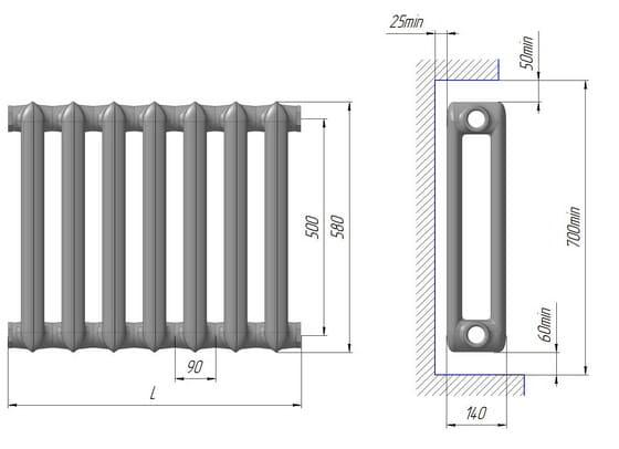 Чугунные радиаторы МС-140-500 купить с доставкой от 360 рублей