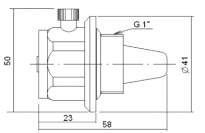 Габаритные размеры радиаторного автоматического воздухоотводчика