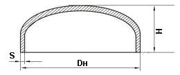 Габаритные размеры заглушки стальной приварной