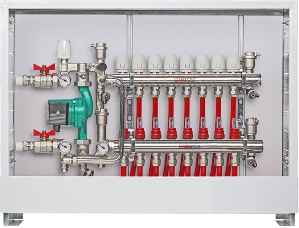 Пример установки насосно-смесительного узла Valtec Combi VT.COMBI.0.180
