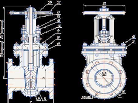 Технические параметры стальных задвижек 30с41нж Муромского завода трубопроводной арматуры